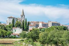 Bale village, Istria, Croatia. Historical Bale village in Istria, Croatia. Travel destination. Beautiful place royalty free stock photos