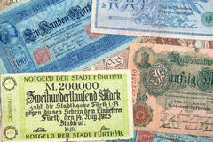 Historical banknotes Royalty Free Stock Photos