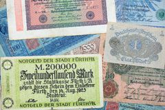 Historical banknotes Royalty Free Stock Images