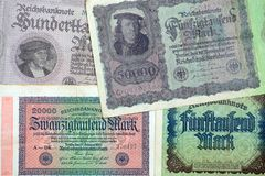 Historical banknotes Stock Image