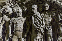 Historical bas-relief/sculpture, Warlords of 1812 Royalty Free Stock Photography