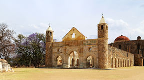 The historical Basilica of Cuilapan, Oaxaca, Mexico Royalty Free Stock Image
