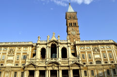 Historical Basilica Papale di Santa Maria Maggiore church in Rom. The historical Basilica Papale di Santa Maria Maggiore church in Rome Stock Photography