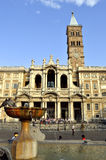 Historical Basilica Papale di Santa Maria Maggiore church in Rom Royalty Free Stock Image