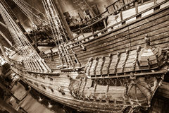 Historical battle ship Vasa in Stockholm, Sweden Royalty Free Stock Images