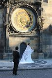 Clock Orloj in Prague Czech Republic stock images