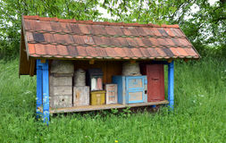 Historical bee house from the 19th century Royalty Free Stock Images