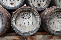 Historical beer kegs stock image