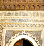 Historical blue  in  antique building door morocco      style af Royalty Free Stock Photography