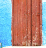 Historical blue  in  antique building door morocco      style af Royalty Free Stock Image