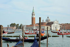 Historical boats parade in Venice - Italy. Royalty Free Stock Image