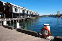 Historical Bond Store on Wooden Wharf, Walsh Bay, Sydney, Australia Stock Photos