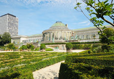 Botanique garden in center of Brussels Stock Photo
