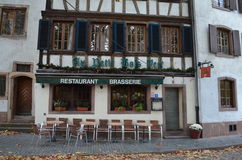 Historical Brasserie in Strasbourg / France Stock Photography