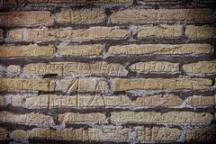 Historical brick wall Stock Photography