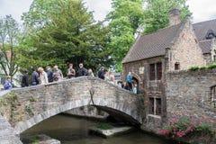 Historical Bridge Bruges Belgium Royalty Free Stock Photography