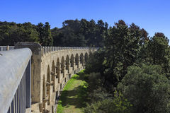 Historical bridge in Hollywood reservoir. Morning view of historical bridge in Hollywood reservoir at Los Angeles, California Royalty Free Stock Photos