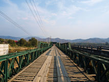 Historical bridge over the pai river in Mae hong son, Thailand Royalty Free Stock Photography