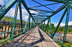 Historical bridge over the pai river Stock Photo