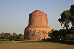 Historical Buddha Stupa at Sarnath, India Royalty Free Stock Photography