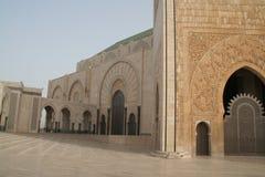 Historical building in Casablanca. Main highlight in Casablanca, II. Hassan Mosque Stock Images