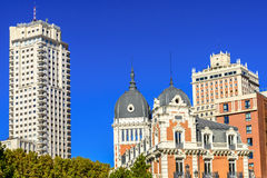 Historical building in the city centre of Madrid Stock Photos