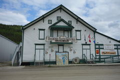 An historical building at dawson city Royalty Free Stock Image