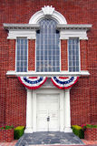 Historical Building Entrance. Entrance to replica of Independence Hall at Knotts Berry Farm amusement park Stock Photo