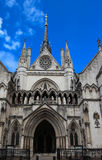 Historical building and entrance of Royal Courts of Justice in London ,England. Stock Photography