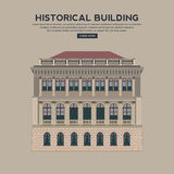 Historical building facade highly detailed, real, colored, isola Royalty Free Stock Photo