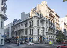 Historical Building Facade in Montevideo Stock Images