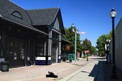 Historical Building of Ferguson Railroad Station. Picture of refurbished historical landmark (building) Ferguson Railroad station in Downtown Hamilton, Ontario stock photo