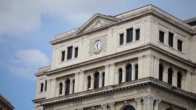 Historical building in Havana stock video