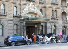 Historical building horse carriage Melbourne Australia Stock Photo