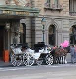 Historical building horse carriage Melbourne Australia Stock Photos