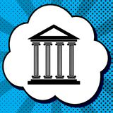Historical building illustration. Vector. Black icon in bubble o royalty free illustration
