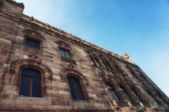 Architectual detail of the Postal Palace i Mexico City. The historical building of the main post office in downtown Mexico City Royalty Free Stock Photo