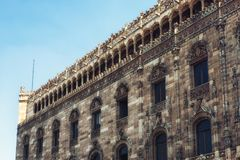 Architectual detail of the Postal Palace i Mexico City. The historical building of the main post office in downtown Mexico City Stock Images