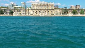 Historical Building near the Sea stock footage