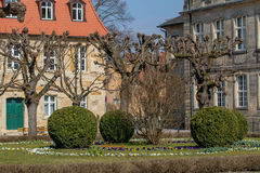 Historical building and new Palace Bayreuth Stock Images