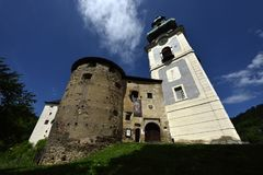 Banska Stiavnica, Old Castle, Slovakia, UNESCO royalty free stock image