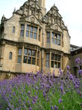 Historical building at Oxford. In a flowery setting Royalty Free Stock Photos