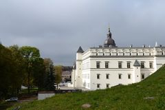Historical building of Palace Keeper. A monument of history and culture in Vilnius. Considered part of the Vilnius Castle Complex royalty free stock images