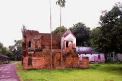 Historical building in panam city. Panam City is situated at Sonargaon, Narayanganj in Bangladesh. It is an ancient historical city in Bangladesh. Among the Royalty Free Stock Photo