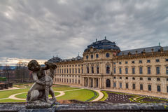 Historical Building of the Residence of Wurzburg in Bavaria Royalty Free Stock Image