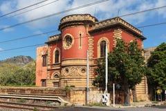 Historical Building in Santa Flavia Stock Photo