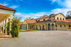 Historical building on spa island in Piestany SLOVAKIA Stock Image