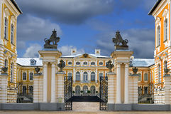 Historical building of stables in Rundale palace, Latvia Royalty Free Stock Photo