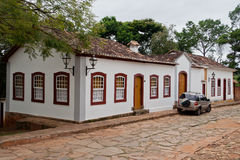 Historical Building in Tirandentes Brazil Stock Photos