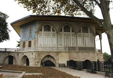 Historical building in the Top Kapi Palace in Istanbul. stock image
